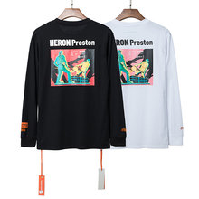 2019ss Heron Preston Industrial Age Printed 1:1 Quality Women Men T shirts tees Hiphop Oversized Long SleeveT shirt Palm Angels(China)