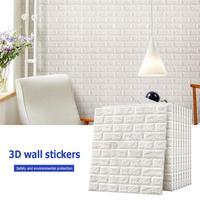3D Brick Pattern Wall Sticker 10Pcs Anti collision Foam Sticker Art Decoration for Home Bedroom Living Room Supply