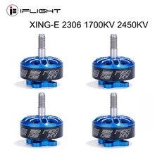 Motor sem escova de iflight XING-E 2306 1700kv 2450kv 2-6s para rc fpv que compete o quadro do zangão quadcopter