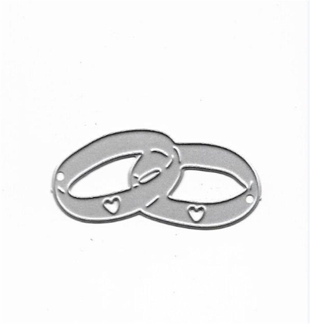 Wedding Rings Metal Cutting Dies DIY Scrapbooking Embossing Album Paper Cards Making Crafts Supplies New 2019 Diecut Cut Dies