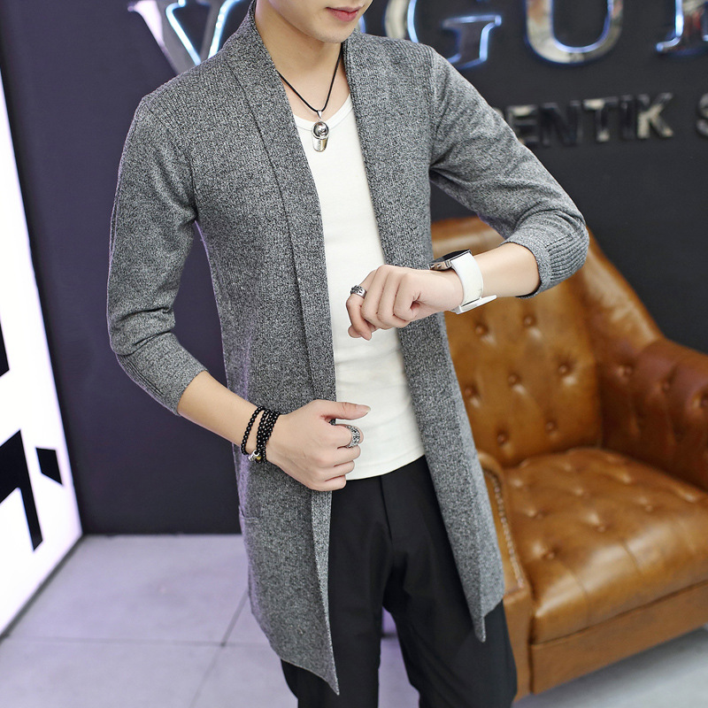 2019 Fashion Men Winter Sweater Male Cardigan Long Sleeve Sweaters Casual Korean Style Hooded Cardigans