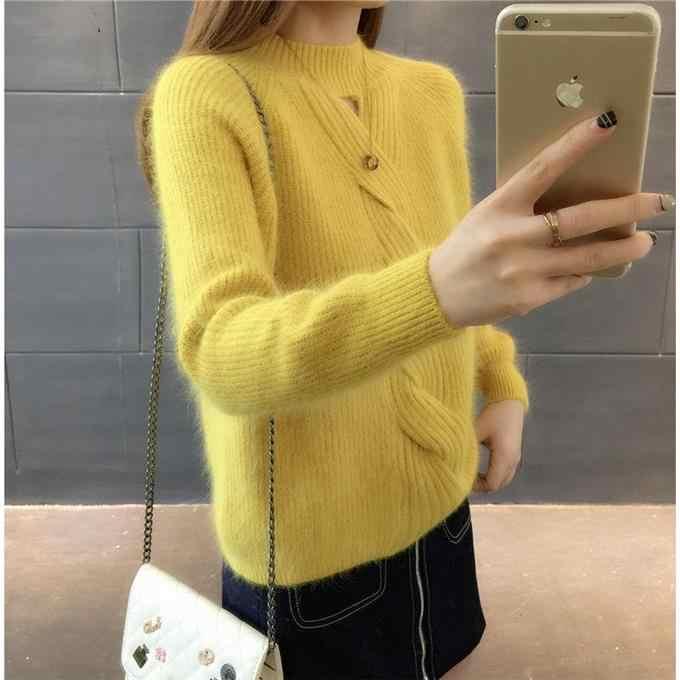 저렴한 도매 2019 새로운 가을 겨울 뜨거운 판매 여성 패션 캐주얼 따뜻한 좋은 스웨터 BP132
