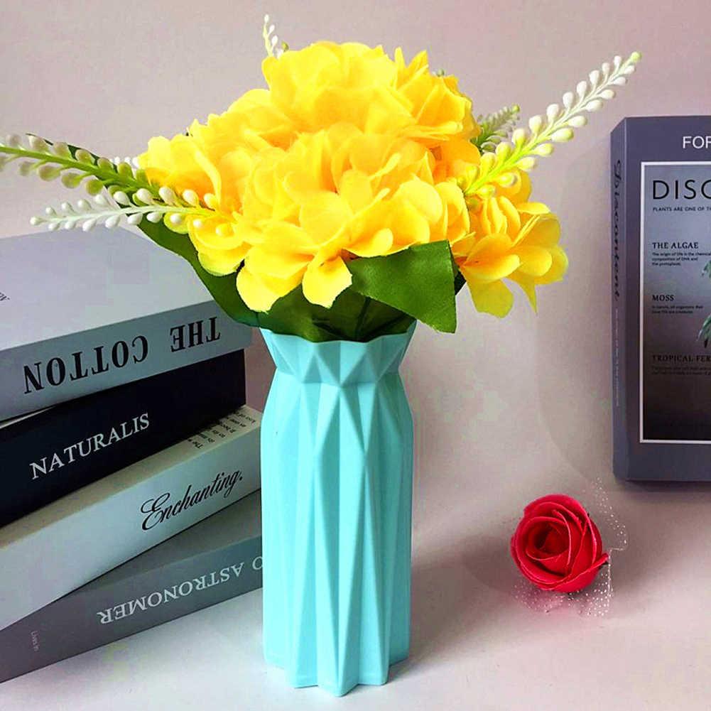 Minimalismo nórdico florero geométrico Origami arreglo de flores maceta contenedor arreglo de plantas de casa maceta florero decoración de mesa de oficina