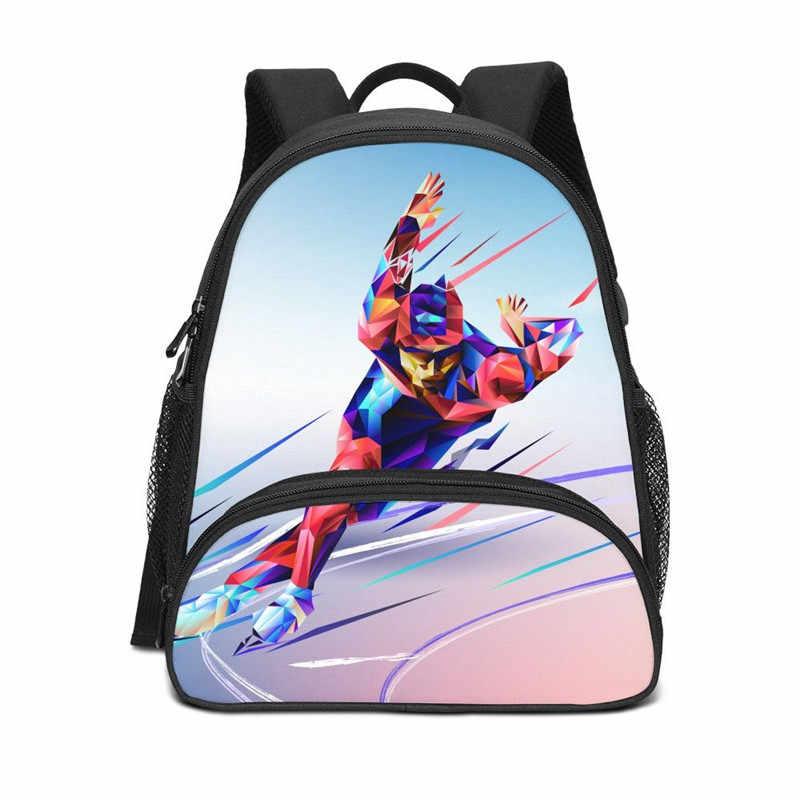 Мини-рюкзаки для мальчиков и девочек, спортивная сумка для катания на коньках с 3D принтом, детские школьные сумки, ранец Rugzak, повседневные рюкзаки Mochila Escolar