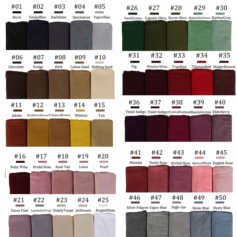 170X60cm Plain Cotton Jersey Hijab Scarf Shawl Solid Color With Good Stitch Stretchy Soft Turban Head