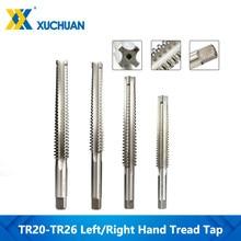 Llave Trapezoidal TR HSS, macho de roscar izquierda/derecha, rosca recta, brocas de mano, herramienta de roscado, machos de mano