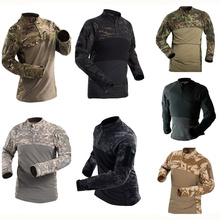 Army Military Tactical Shirt Long Sleeve Combat Shirts Quick Dry Men Multicam Camouflage Clothes Outdoor Hiking Hunting T Shirt outdoor cs wargame camouflage t shirt men long sleeve hunting tactical military army uniform hiking breathable military shirts