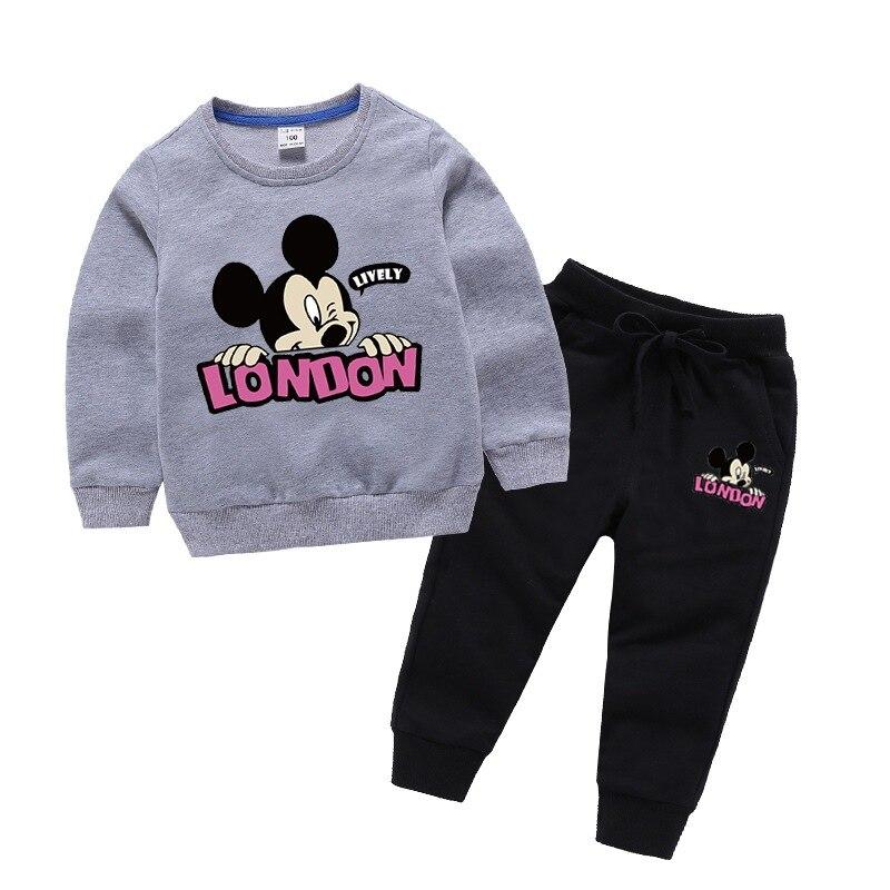 Baby girl clothes autumn costume for children 100% cotton cartoon children's suit tracksuit for children kids clothes boy suit 6