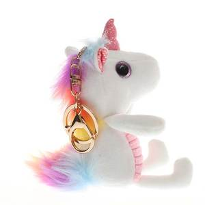 Dolls Birthday-Gift Plush-Keychain Angel-Unicorn Soft-Toys Girl 12cm for Bag-Pendant