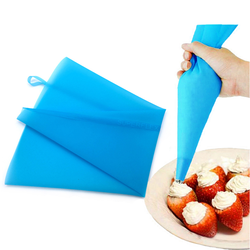 30/34/40/46/50/55/60 cm Re-useable Silicone Cream Pastry Icing Bag Baking Cooking <font><b>Fondant</b></font> <font><b>Cake</b></font> <font><b>Decorating</b></font> <font><b>Tools</b></font> image