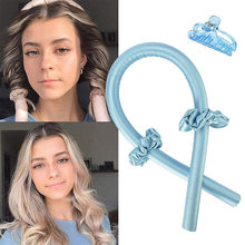 Heatless Hair Curlers For Long Hair To Sleep In Overnight No Heat Silk Curls Headband Ribbon and Flexi Rods for Natural Hair