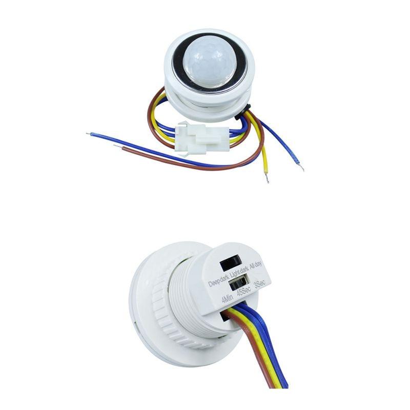 220V Human Body Sensor Switch Ceiling Type Human Body Infrared Sensor Head Switch Light
