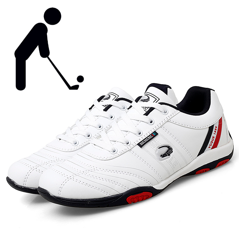 2021 Men Golf Shoes Breathable Soft Golf Training Walking Sports Shoes Mens Black and White Comfortable Golf Sneakers for Men