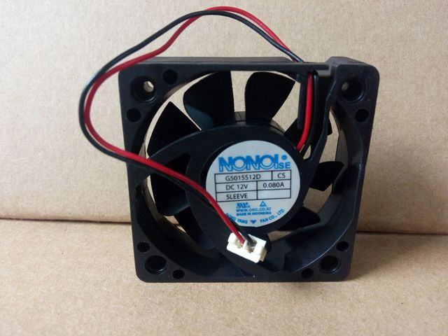 NONOISE 5015 5CM G5015S12D CS 12V 0.080A 2-line fanów telewizji