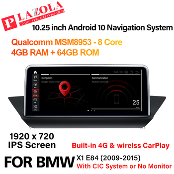 Android 10 Car Multimedia Navigation GPS Player For BMW X1 E84 2009-2015 CIC or without Original Monitor CarPlay Autostereo IPS image