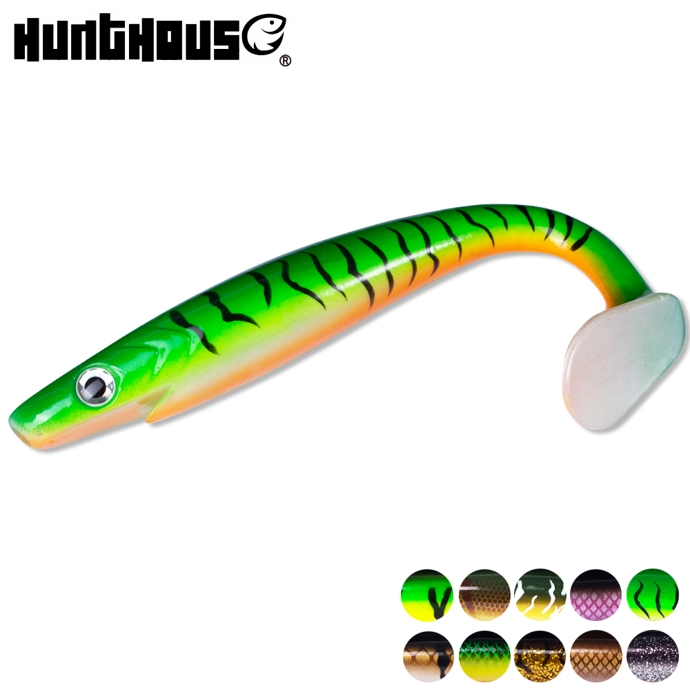 Hunt House Fishing Lure Pro Pig Shad Pike Lures 20cm 50g Paint Printing Lures Paddle Tail Savsge Gear Natural Muskies