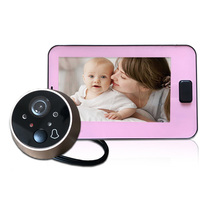 Peephole Door Camera 4.3 Inch Color Screen With Electronic Doorbell LED Lights V