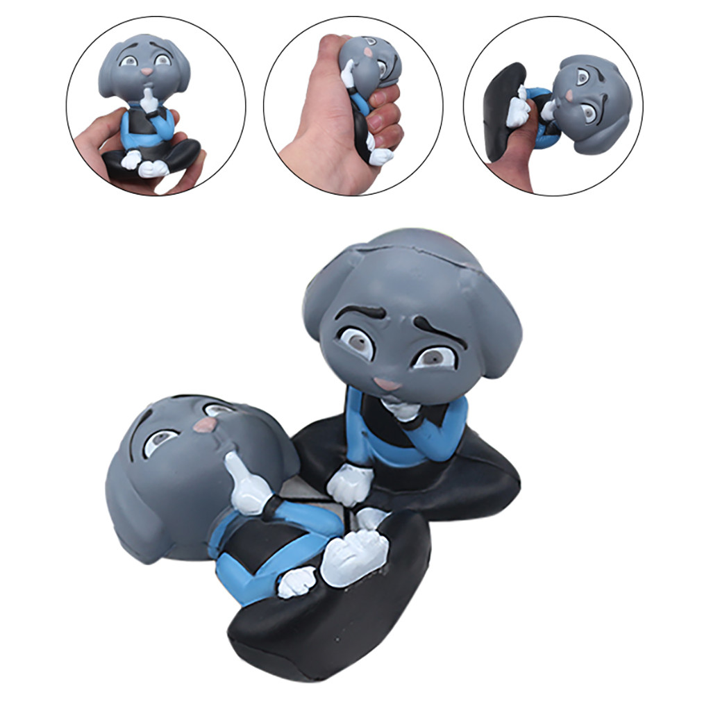 Squishy Kawaii Gigantes Soft Squeeze Toys Squishy Simulated Character Model Sitting Greyhound Decompression Educational ToyW802