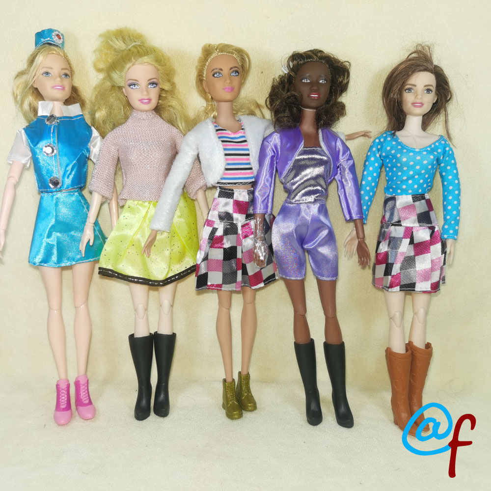 N37G 1-set Doll Skirt Occupation Suit Clothes Girl DIY For 1/6 OOAK Beauty Doll's Dress A Brand Head As Gift If 3sets Or More