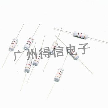 цена на 200pcs/lot New 2W 1% series metal oxide film resistor iron foot DIP resistor free shipping