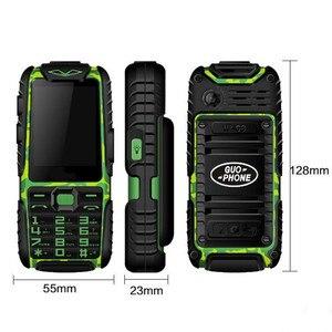 GUOPHONE A6 три пруфа Военная промышленность электрический мощный мобильный телефон водонепроницаемый Супер долгий режим ожидания для пожилых ...