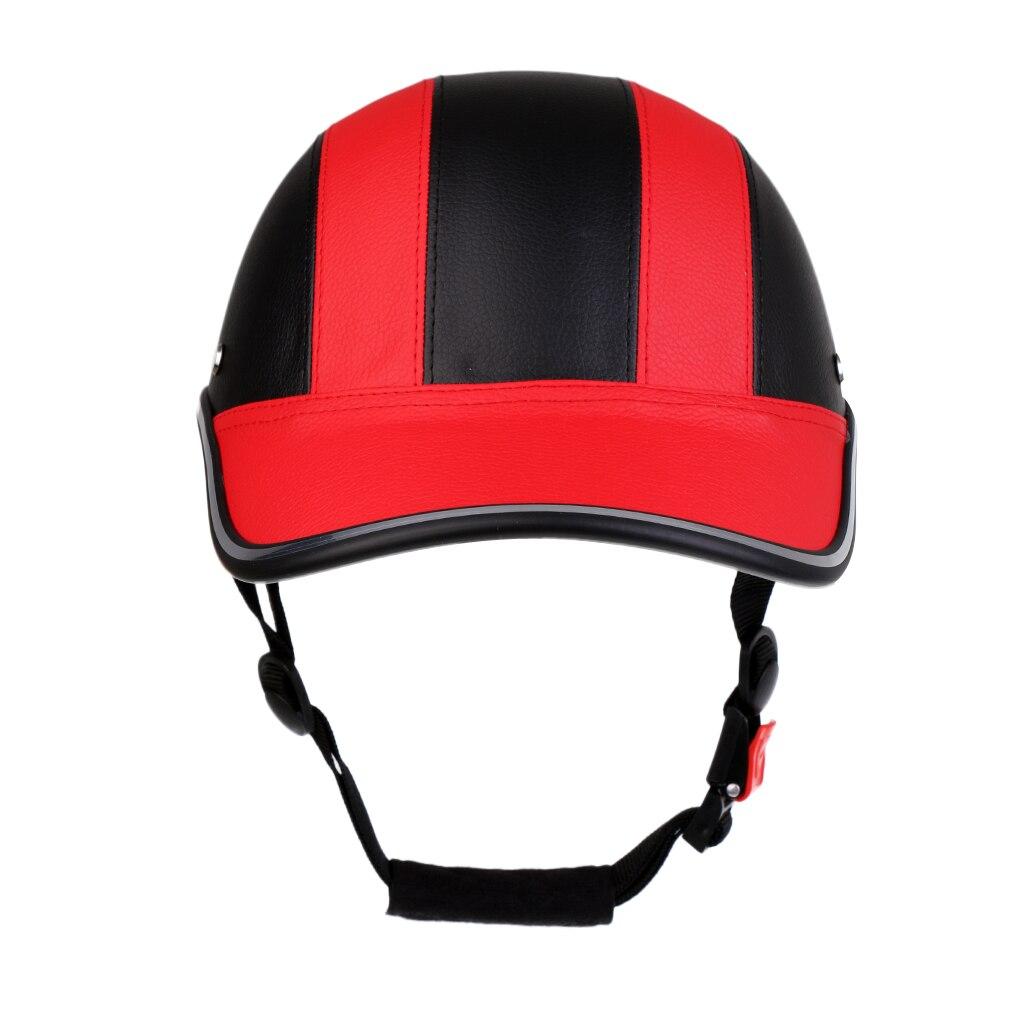 Baseball Cap Style Motorcycle Bike Helmet Anti-UV Safe Hat Visor