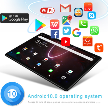 Pc 10.1 Inch Tablet pc Android 10.0 Android Tablets 4GB+64GB ROM 3G/4G LTE Phone Call Octa Core Bluetooth Wi-Fi GPS FM Fast Cpu 2