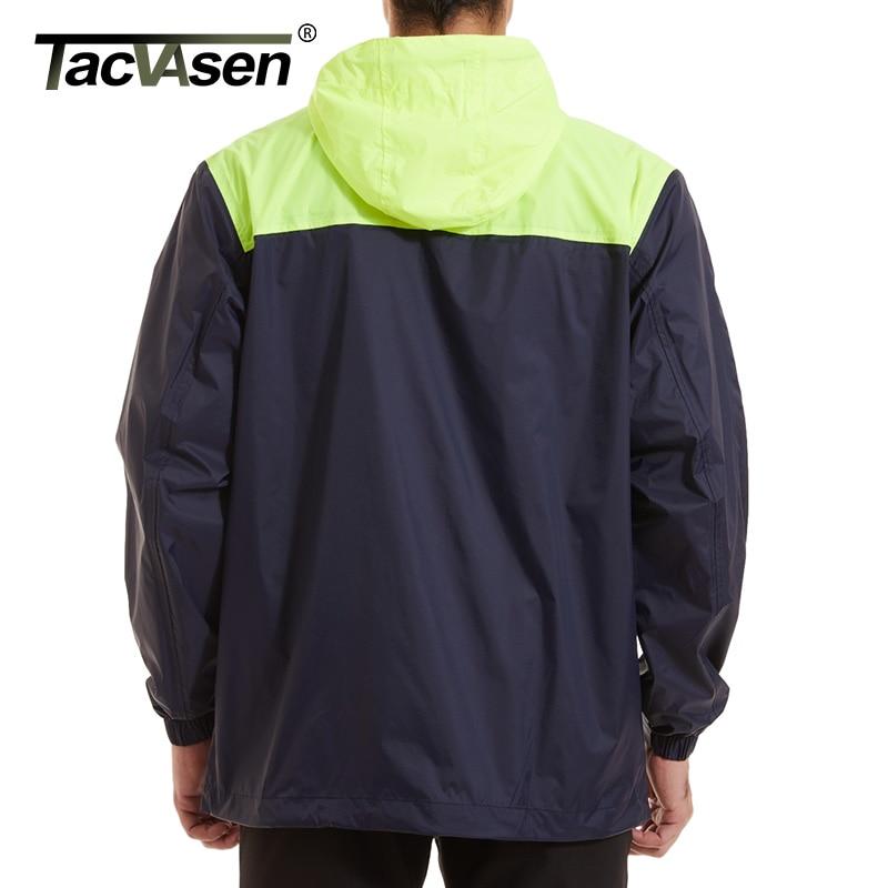 TACVASEN Men's Hooded Lightweight Rain Jacket 2