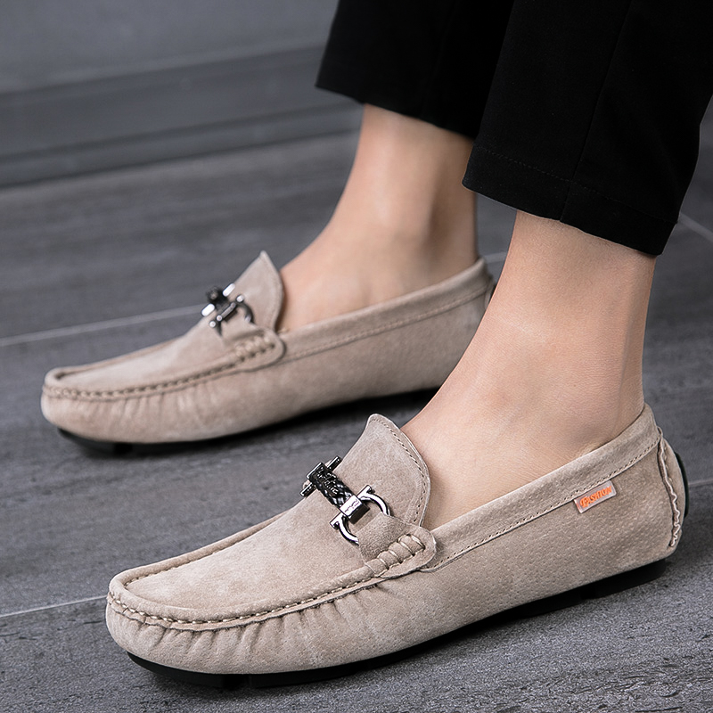 Men Casual Shoes Fashion Men Suede Cow Leather Men Loafers Moccasins Outdoor Fashion Slip On Men S Flats Loafers Male Shoes S5 Men S Casual Shoes Aliexpress