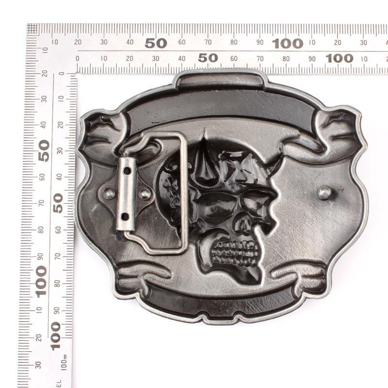 Skull skeleton belt buckle Belt DIY accessories Western cowboy style Smooth belt buckle Punk rock style k16