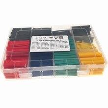 530 pçs tubo de psiquiatra de calor tubo de isolamento shrinkable variedade de tubo eletrônico poliolefin fio cabo manga kit