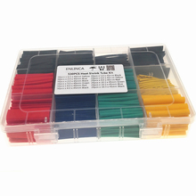 530 pièces thermorétractable Tube Tube isolation rétractable Tube assortiment électronique polyoléfine fil câble manchon Kit