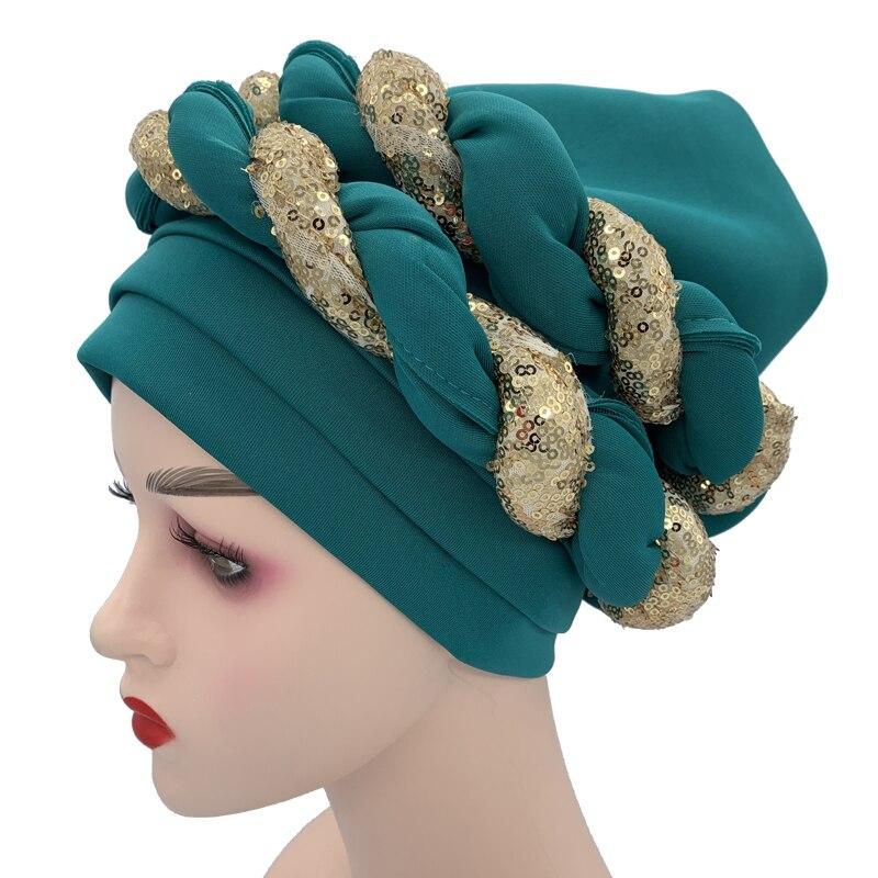 Sequins Turban Cap for Women  Headties 4
