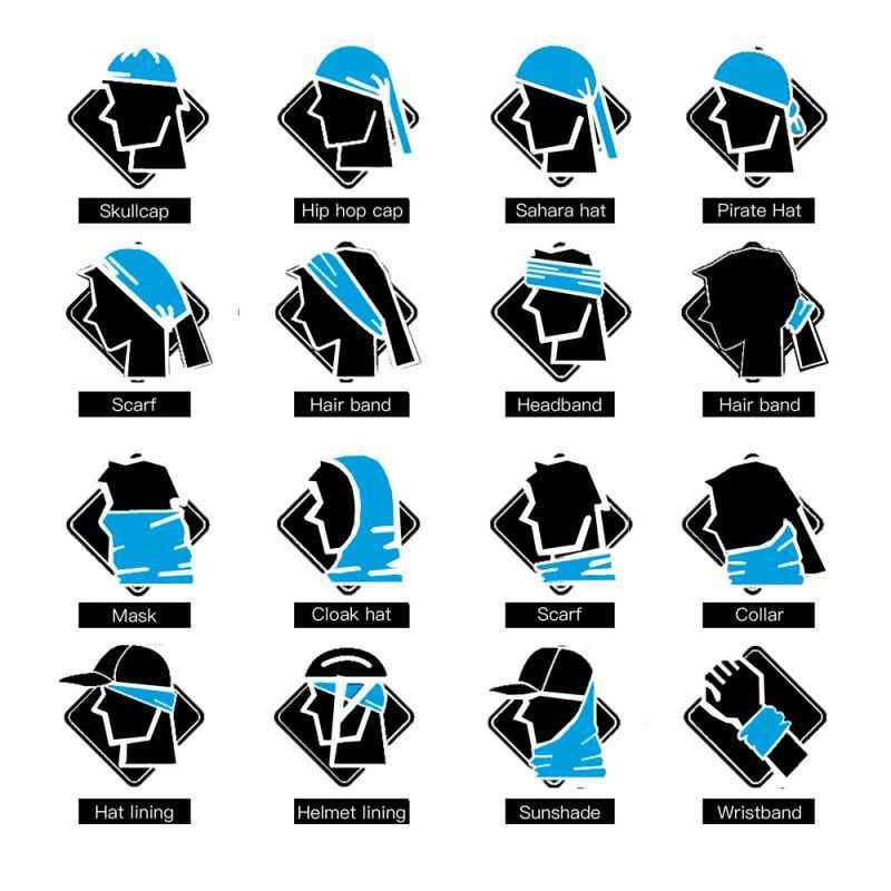 Bisiklet Bandana Motosiklet Kafatası başörtüsü Tampon Kadın Erkek Dikişsiz Bandanalar Bisiklet Moto Bisiklet Sürme Boyun Isıtıcı Headbands Yüz Kalkanı Maskesi kadın Erkek Türban