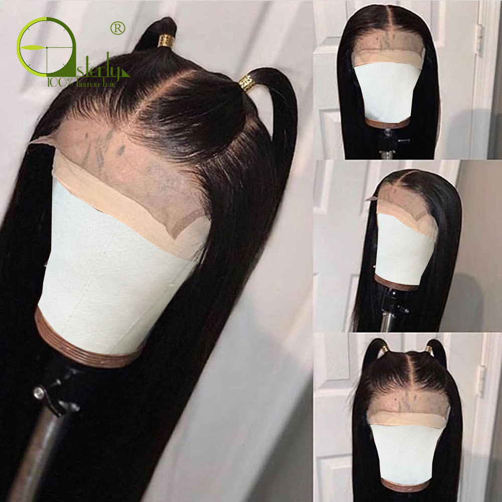 H79d90c7848ab408cb216d1243638d236f Sterly 4x4 Lace Closure Wig Remy Hair Straight Lace Wig Brazilian Lace Closure Human Hair Wigs For Black Women