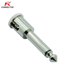 50pcs 6.35mm audio plug connector, Nail Vorm, volledige nikkel plating, Mono, 6.35mm jack, Gratis soldeer