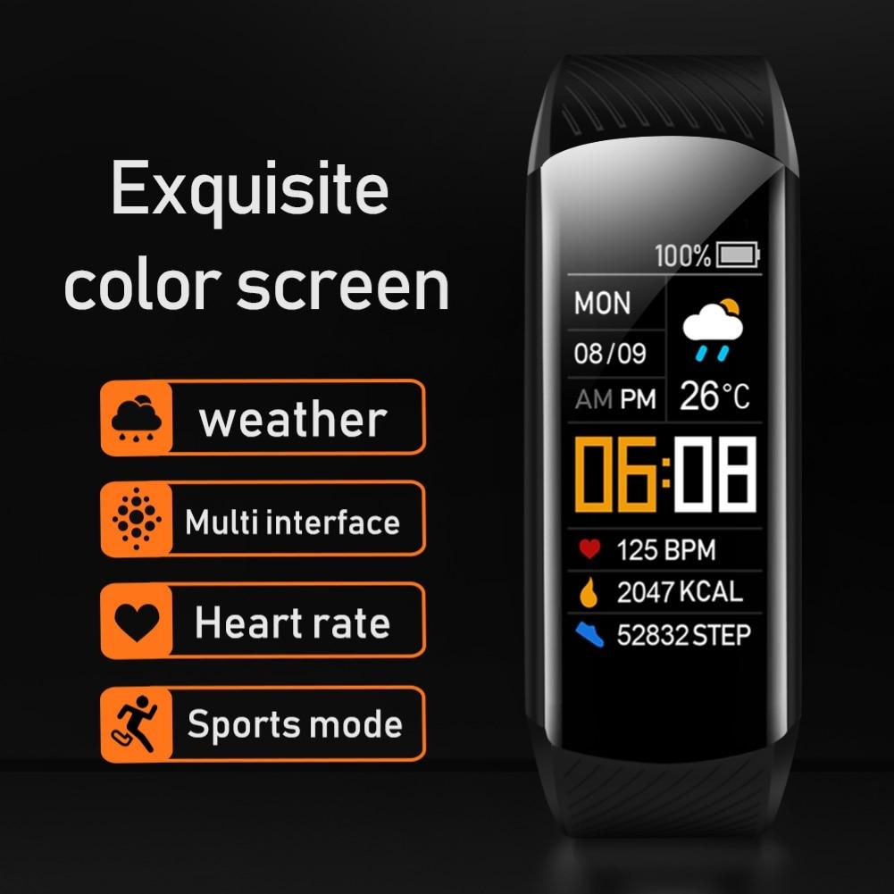 C5S Bluetooth Водонепроницаемый монитор сердечного ритма во время сна фитнес спортивные смарт-браслет многофункциональный сенсорный Экран смарт-браслет 5