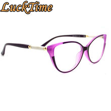 LuckTime Casual Fashion Women Glasses Frame Cat Eyes Womens Myopia Glasses Frame Lucky Time Prescription Optical frame #1894
