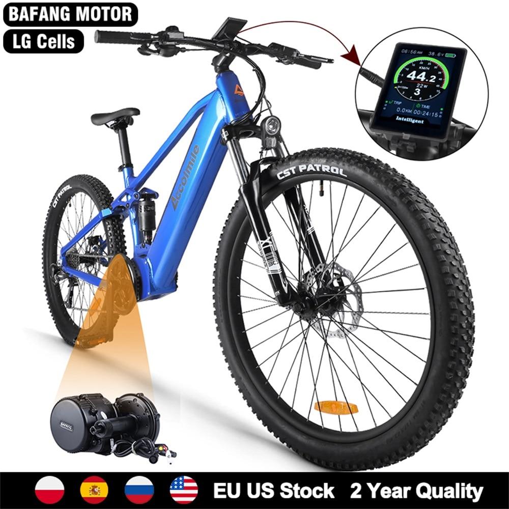 """Ue pas de taxe nouveau 27.5 """"vélo électrique tout suspendu 48V 750W montagne E vélo Bafang BBS02B mi moteur puissant hommes eBike Kit"""