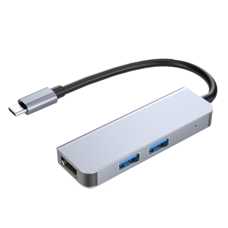 BYL-2011N Type-C Docking Station, USB 3.0X2+HDMI-Compatible Three-In-One Docking Station for Pc and Laptop