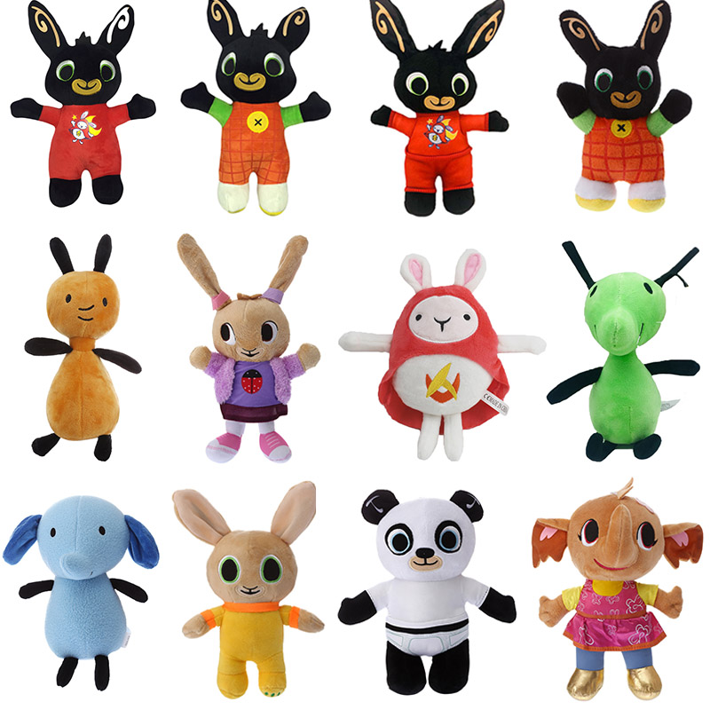 20-35cm Bing Bunny Plush Doll Toys Cartoon Animal Rabbit Ant Plush Toys Soft Bing Bunny Rabbit Stuffed Dolls For Children Gifts