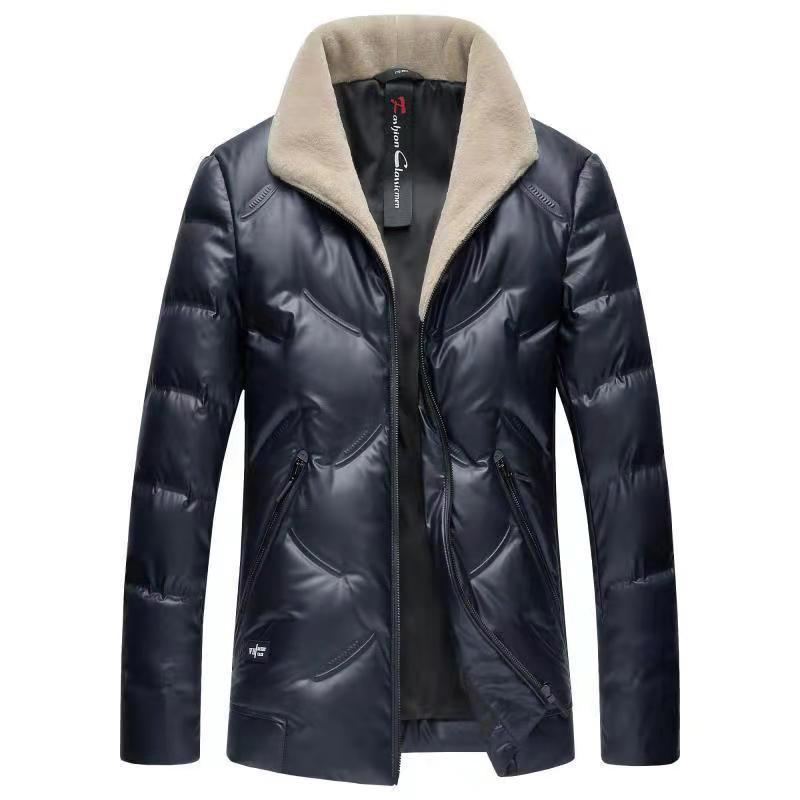 New  Mens Duck Down Jackets Winter Business Casual Warm Male Brand Clothing Slim Fit Turn Down Collar Western Puffer Jacket Men