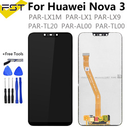 Do wyświetlacza LCD Huawei Nova 3 + części zamienne do montażu digitizera z ekranem dotykowym + narzędzia do Nova 3 PAR-LX1 PAR-LX9 PAR LX1M