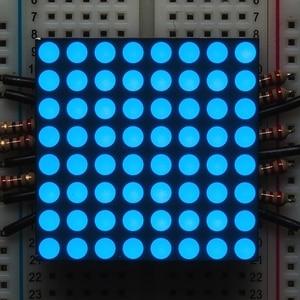 8 x 8 Blue Red LED Matrix LED Display Module 32 x 32mm - Common Cathode(China)