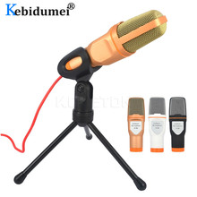 SF 666 Condenser Microphone 3.5mm Plug Home Stereo MIC Desktop Tripod for PC YouTube Video Skype Chatting Gaming Podcast Record