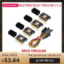 Bigtreetech TMC5160 V1.2 SPI Stepper Motor Driver 6 Lapisan Papan Vs TMC2208 TMC2209 3D Bagian Printer untuk Ender 3/5 skr V1.3 Pro