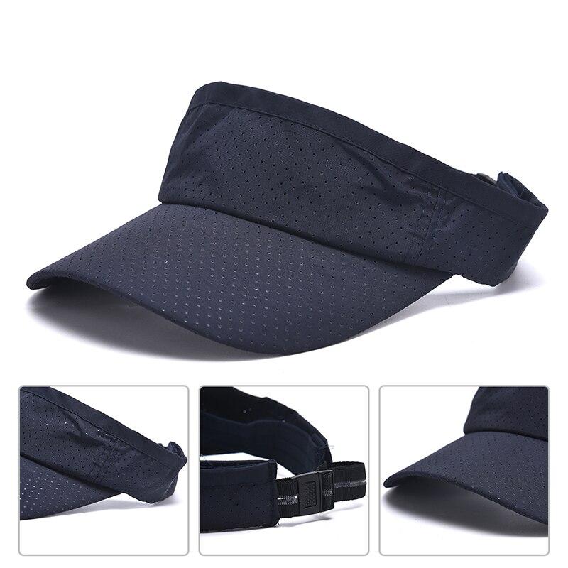 Verano transpirable Unisex vacío Top visera sombrero de verano de lino gran ala ancha sombreros de paja para el sol sombrero con protección UV para hombres y mujeres