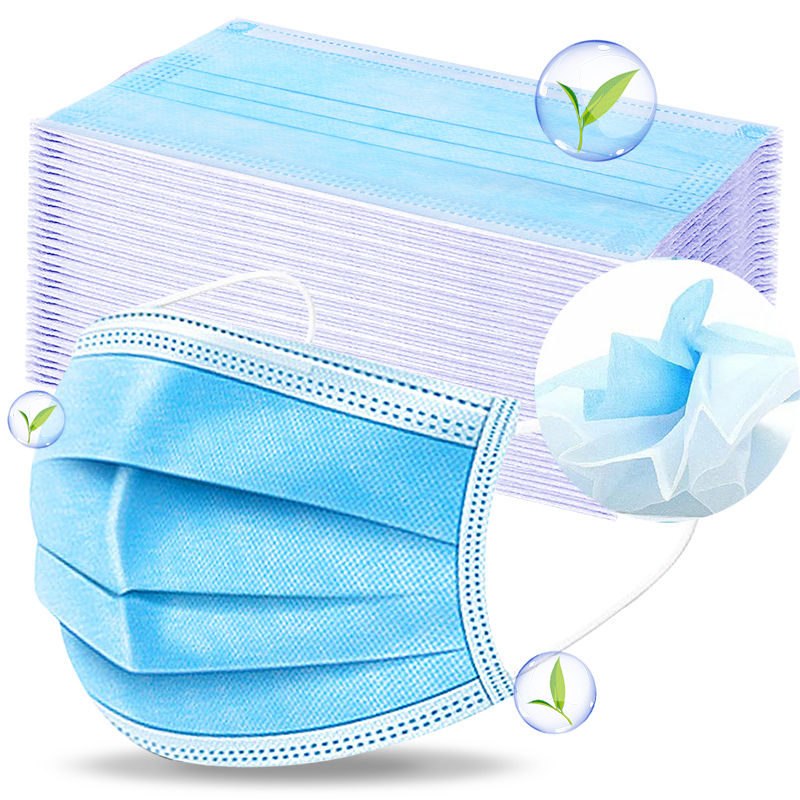 10 PCS 3 Layer Disposable Medical Protective Face Mouth Masks  Anti Influenza Bacterial Virus  Dustproof  Safety Surgical Mask  -