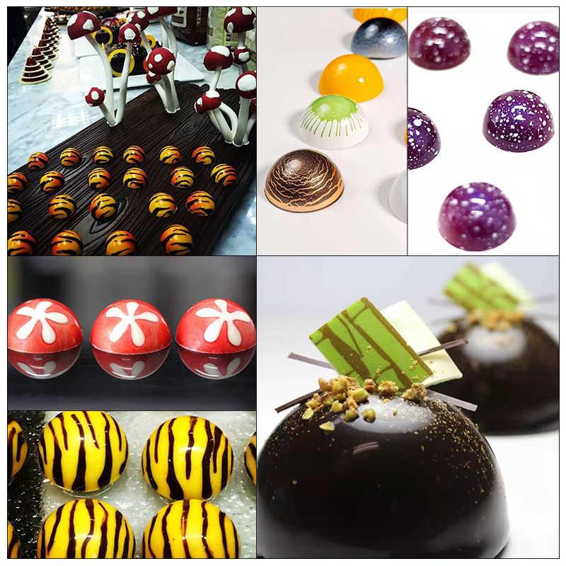 24 Setengah Bola Bening Diamond Chocolate Cetakan DIY Baking Polikarbonat PC Pembuat Cokelat Mousse Permen Cetakan Baking Pastry Alat