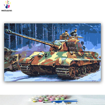 German King Tiger Tank Paint By Numbers Adult WW2 Military